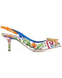 Dolce & Gabbana - Bellucci Embellished Slingback Pumps - Lyst
