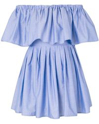 Ainea - Ruffled Off Shoulder Dress - Lyst
