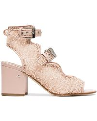Laurence Dacade - Pink Noe 70 Lace Sandals - Lyst