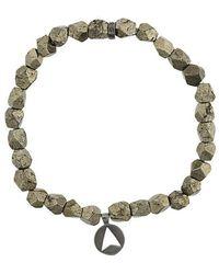 Northskull - Versilbertes 'Pyrite Stone Insignia Charm' Armband - Lyst