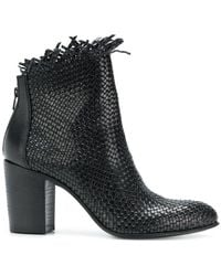 Strategia | Woven Block-heel Ankle Boots | Lyst