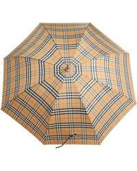 Burberry - Vintage Check Walking Umbrella - Lyst