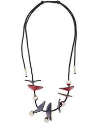 Marni - Panel Bead Necklace - Lyst