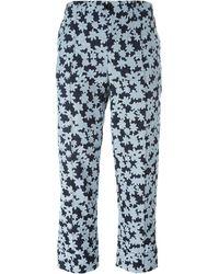 Julien David Cropped Floral Pants
