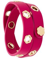 Ferragamo - Flower Leather Bracelet - Lyst