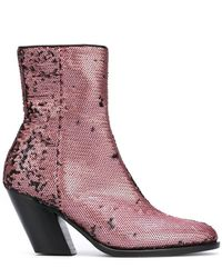 A.F.Vandevorst - Sequined Ankle Boots - Lyst