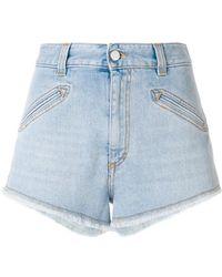 Fiorucci - Frayed Hem Denim Shorts - Lyst