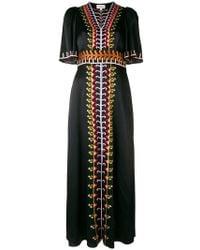 Temperley London - Embroidered V-neck Long Dress - Lyst