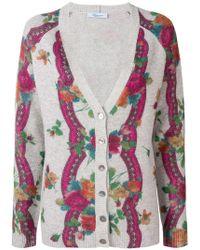 Blumarine - Floral Pattern Cardigan - Lyst