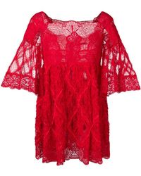 Amen - Lace Short Dress - Lyst