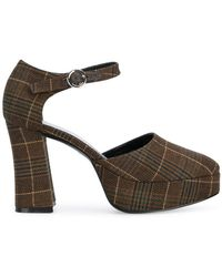 Nicole Saldaña - Deborah Plaid Court Shoes - Lyst