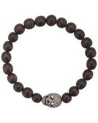 Loree Rodkin - Diamond Skull Beaded Bracelet - Lyst