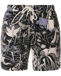 Aspesi - Tree Print Swim Shorts - Lyst
