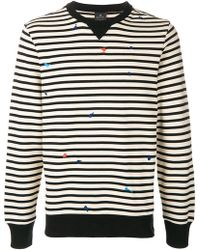 PS by Paul Smith - Embroidered Striped Sweatshirt - Lyst