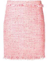 Twin Set - Frayed Details Tweed Skirt - Lyst