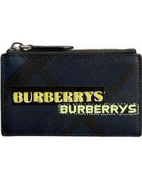 Burberry - Logo Print London Check Zip Card - Lyst