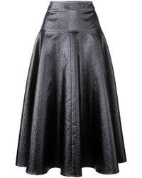 OSMAN - Flared Midi Skirt - Lyst