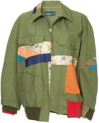 Kolor - Patchwork Military Short Coat - Lyst