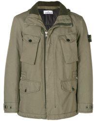 Stone Island - Zipped Military Jacket - Lyst