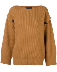 Erika Cavallini Semi Couture - Ribbed Knit Sweater - Lyst