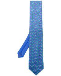 Etro - Tortoise Print Tie - Lyst