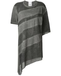 Lost and Found Rooms - Sheer Asymmetric T-shirt - Lyst