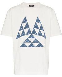 CALVIN KLEIN 205W39NYC - Triangle Print Cotton T Shirt - Lyst