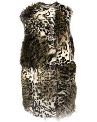 Stella McCartney - Faux Fur Sleeveless Coat - Lyst