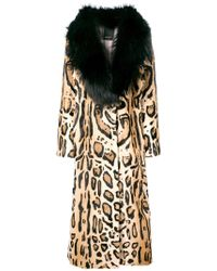 Numerootto - Belted Leopard Print Coat - Lyst