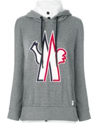 Moncler Grenoble   Logo Patch Hooded Sweatshirt   Lyst