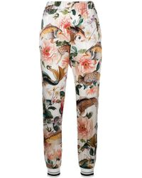Shirtaporter - Floral Fitted Trousers - Lyst