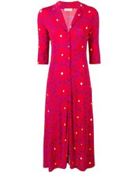 Siyu - Floral Print Shirt Dress - Lyst