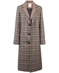 Monse - Plaid Single Breasted Coat - Lyst