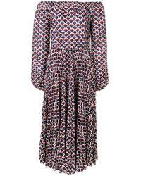 Valentino - Retro Print Logo Dress - Lyst