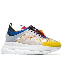 Versace - Chain Reaction Baroque Print Sneakers - Lyst