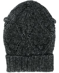 Twin Set - Cable Knit Beanie - Lyst