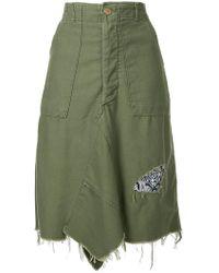 Icons - Frayed Edge Asymmetric Skirt - Lyst