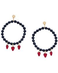 Venessa Arizaga - Strawberry Beaded Earrings - Lyst