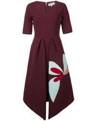 Delpozo - Pointed Hem Dress - Lyst
