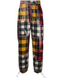 Palm Angels - Checked Print Loose Trousers - Lyst
