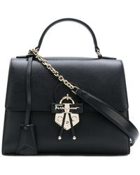 Ferragamo - Gancio Embellished Top Handle Bag - Lyst