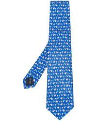 Ferragamo - Elephant Print Tie - Lyst