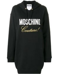 Moschino - Robe sweat à logo brodé - Lyst