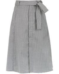 Egrey - Wool-blend Pied De Poule Skirt - Lyst