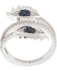 Delfina Delettrez - Embellished Eyes Ring - Lyst