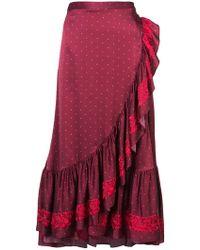 Figue - Aurora Frill Trim Skirt - Lyst