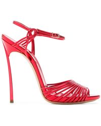 Casadei - Flash Metallic Sandals - Lyst