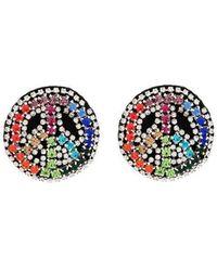 Venessa Arizaga - Multicoloured Peace Dream Crystal Embellished Earrings - Lyst
