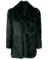 MISBHV - Oversized Faux Fur Jacket - Lyst