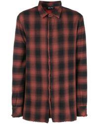 Andrea Ya'aqov - Plaid Frayed Hem Shirt - Lyst